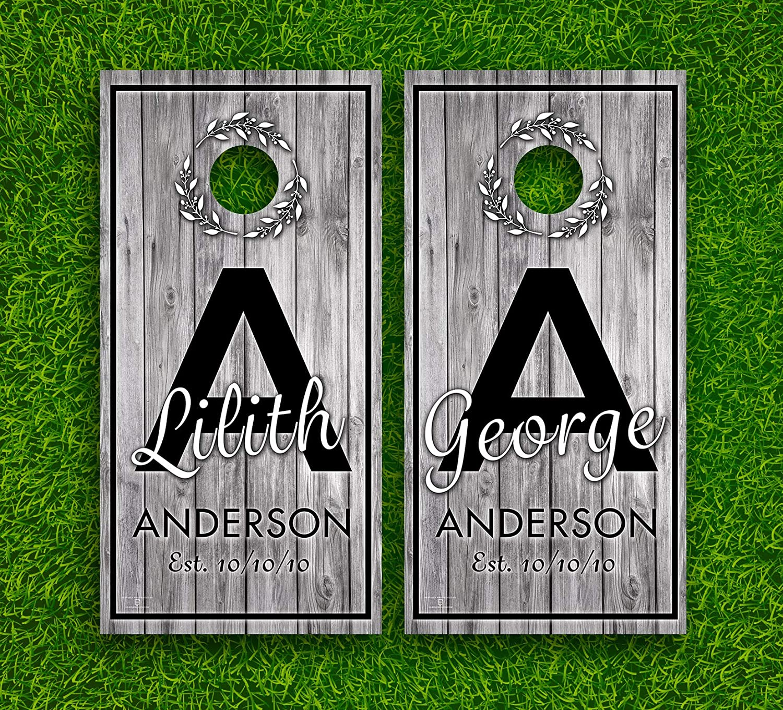 Wedding Gift Idea #3 Cornhole Boards Wraps Set