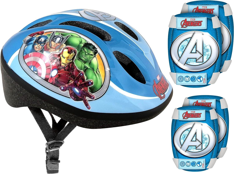 Stamp–Set de protección (Casco + Rodilleras y Coudieres Bicicleta–Avengers, av299507