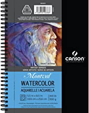 Canson Canson Artist Series Montval Watercolor Paper Pad, Heavyweight Cold Press and Micro-Perforated, Side Wire Bound, 140 Pound, 5.5 x 8.5 Inch, 20 Sheets, 400059878, White, 1 Pack