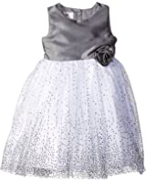 Marmellata Little Girls' Silver Sparkle Party Dress