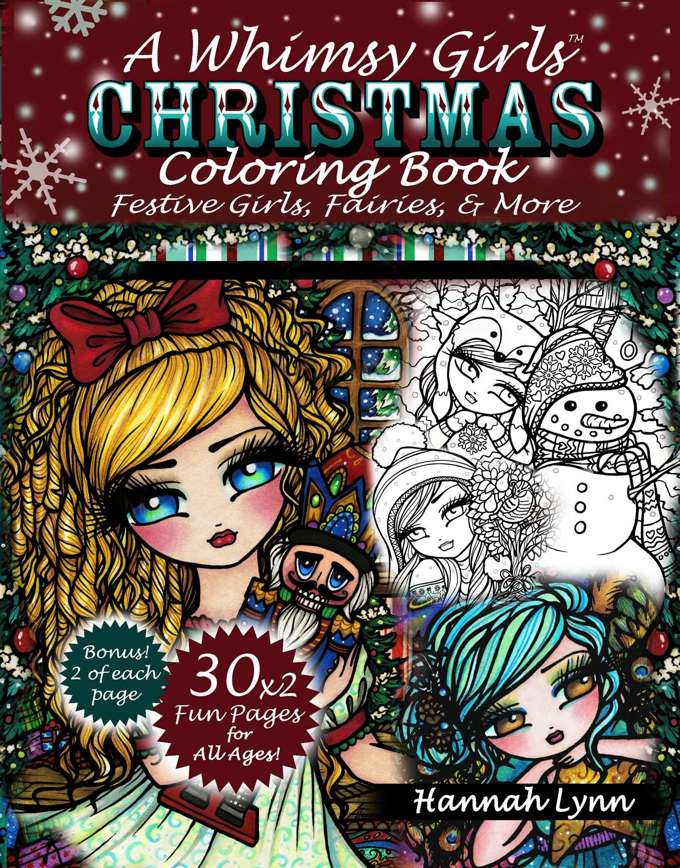 whimsical winter wonderland coloring book by molly harrison