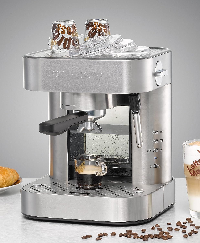 Rommelsbacher EKS 2000 Independiente Semi-automática Máquina espresso 1.5L Acero inoxidable - Cafetera (Independiente, Máquina espresso, 1,5 L, De café molido, 1275 W, Acero inoxidable): Amazon.es: Hogar