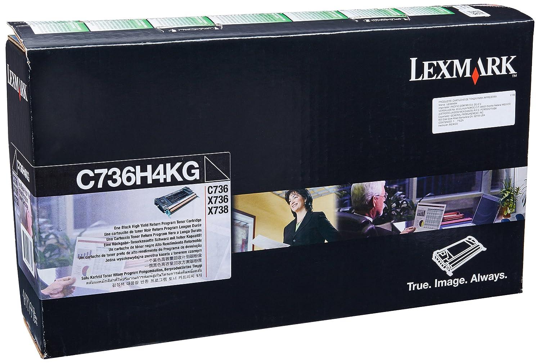 Lexmark High Yield Black Return Program Toner Cartridge for US Government, 12000 Yield (C736H4KG)