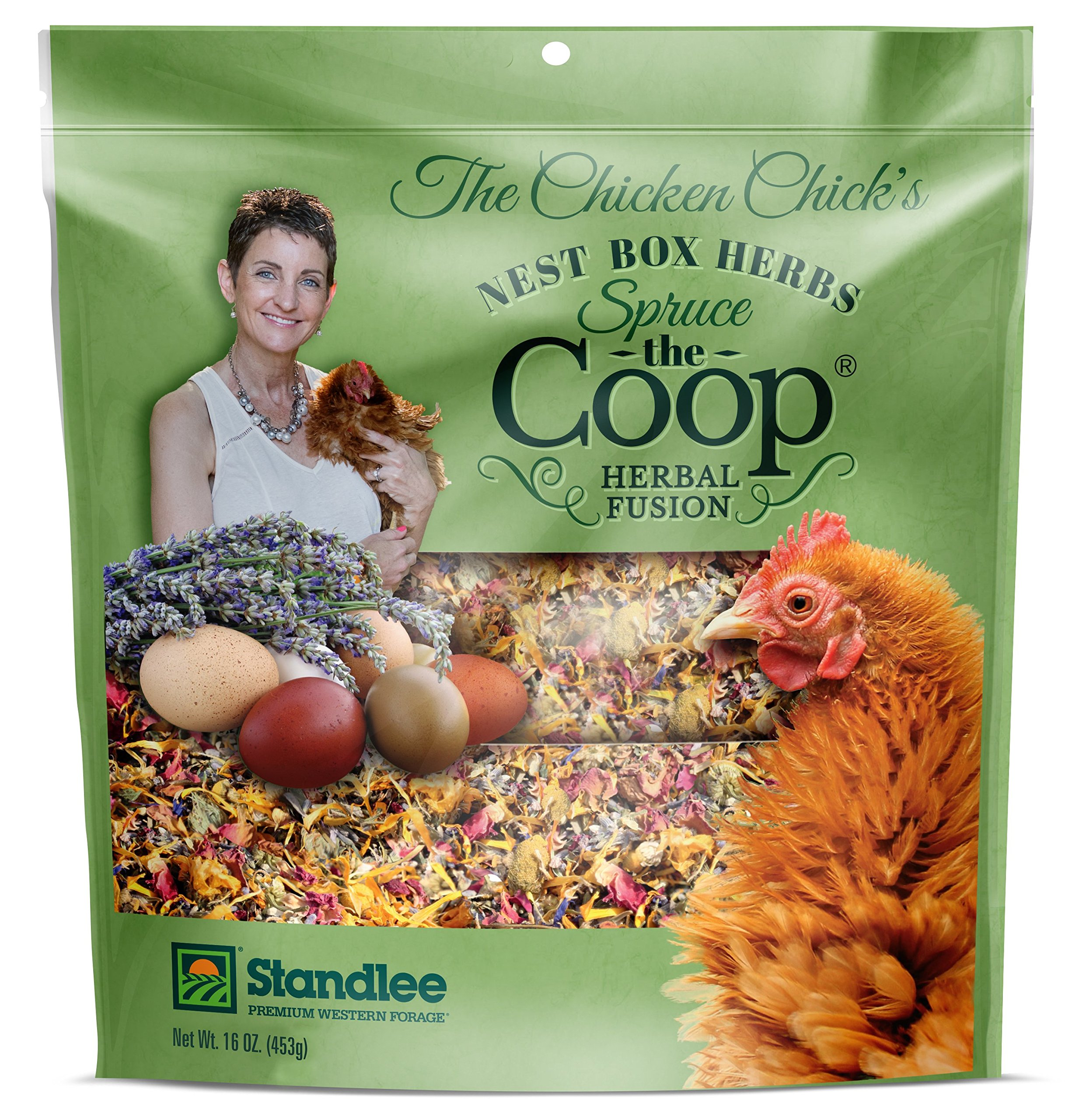 The Chicken Chick Spruce The Coop Herbal Fusion Nest Box Herbs, 16 oz by The Chicken Chick