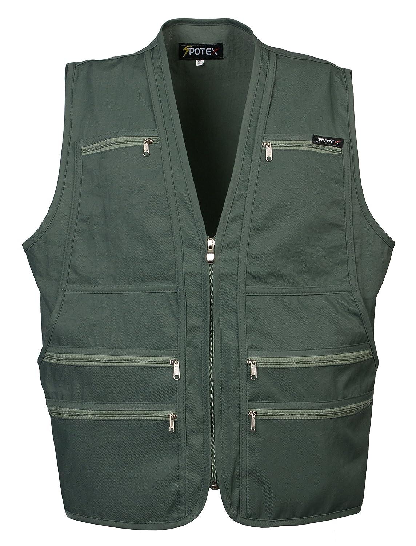 Men's 9 Pockets Work Utility Vest Military Photo Safari Travel Vest