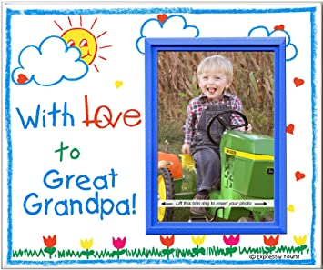 Amazoncom With Love To Great Grandpa Picture Frame Gift