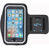"""Touch ID Access Running Armband (5.5"""") for iPhone 8 Plus, 7 Plus, 6 Plus, 6S Plus w/ Key Holder and Screen Protector (Black)"""