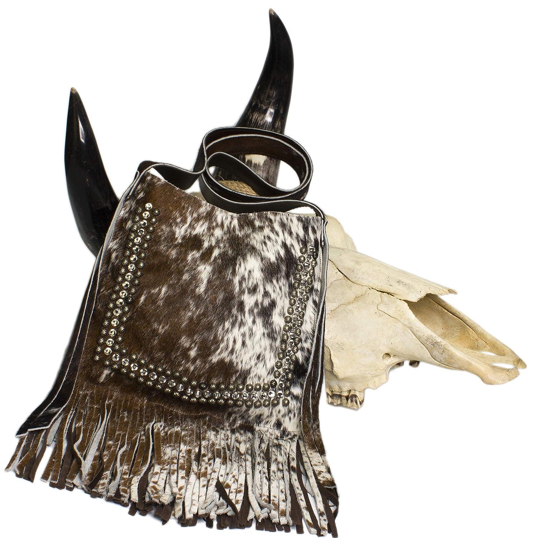 aa32c8d1bb6b Raviani Cross Body Fringe Bag in Speckle Brown & White Brindle ...