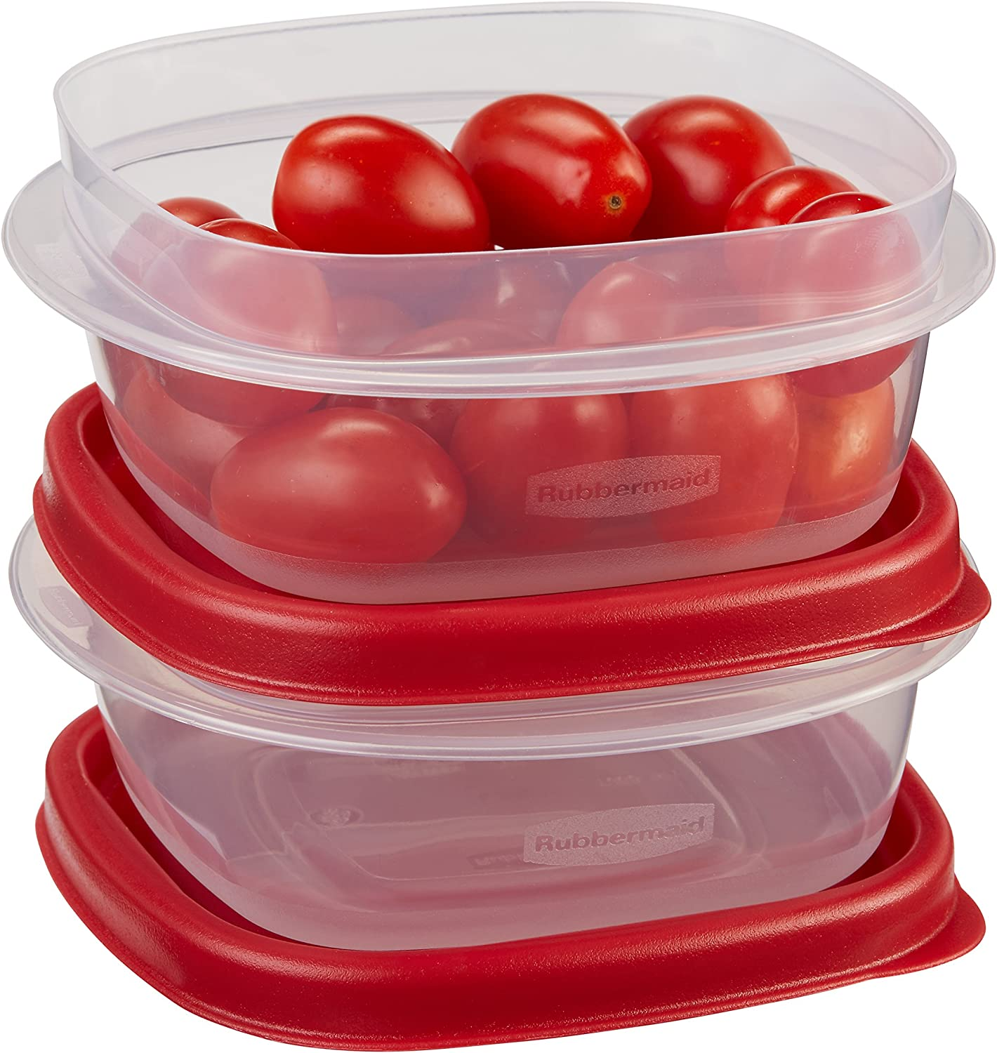 Rubbermaid Easy Find Lids Food Storage Containers, 1.25 Cup, Racer Red, 4-Piece Set 1777183
