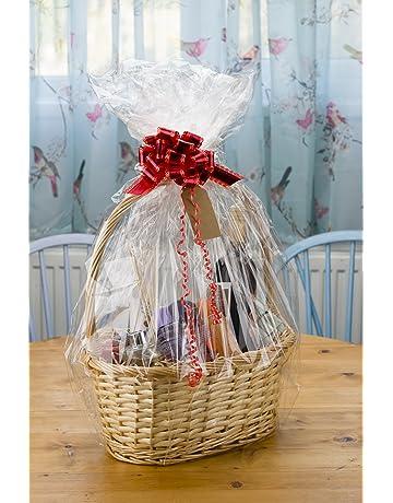 woodluv Create Your Own Wicker Gift Hamper Basket Kit, Christening, Wedding, Baby Shower