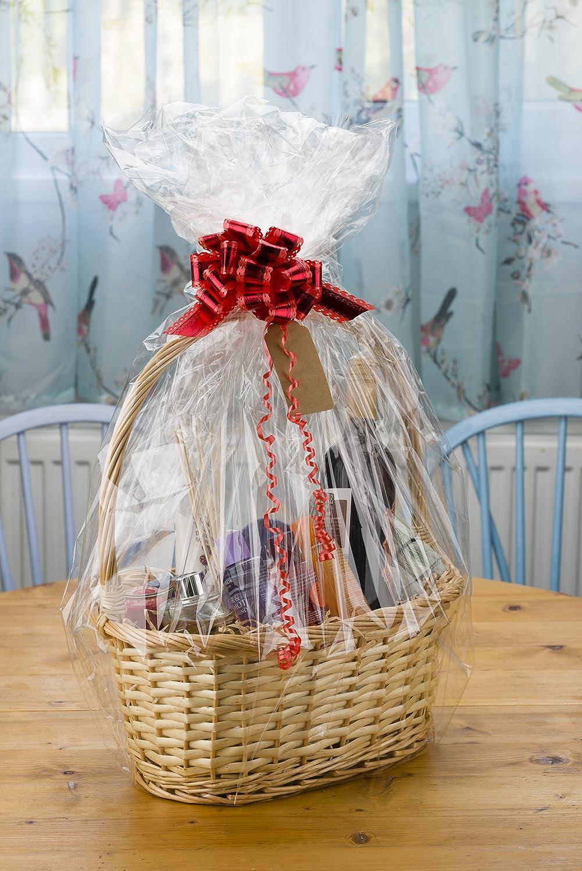 Create Your Own Wicker Gift Hamper Basket Kit Christmas Presents, Christening, Wedding, Baby Shower or Birthday Gift Elite Housewares