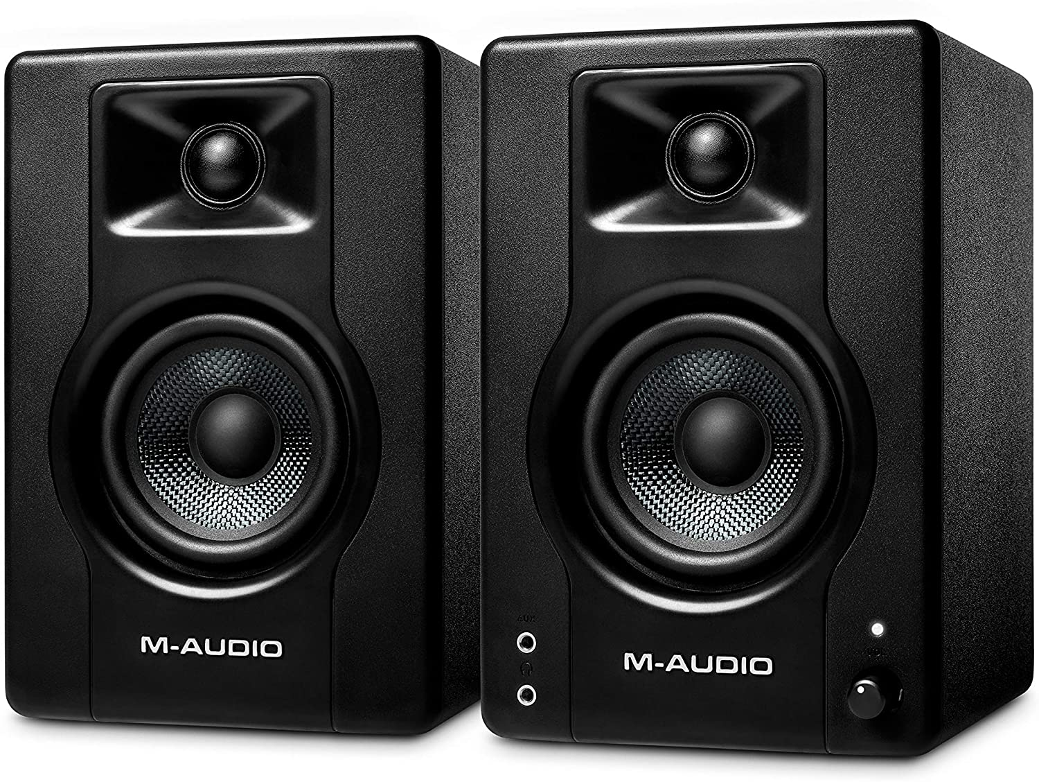 M-Audio BX3-120-Watt Powered Desktop Computer Speakers/Studio Monitors for Gaming, Music Production, Live Streaming and Podcasting (BX3 Pair)