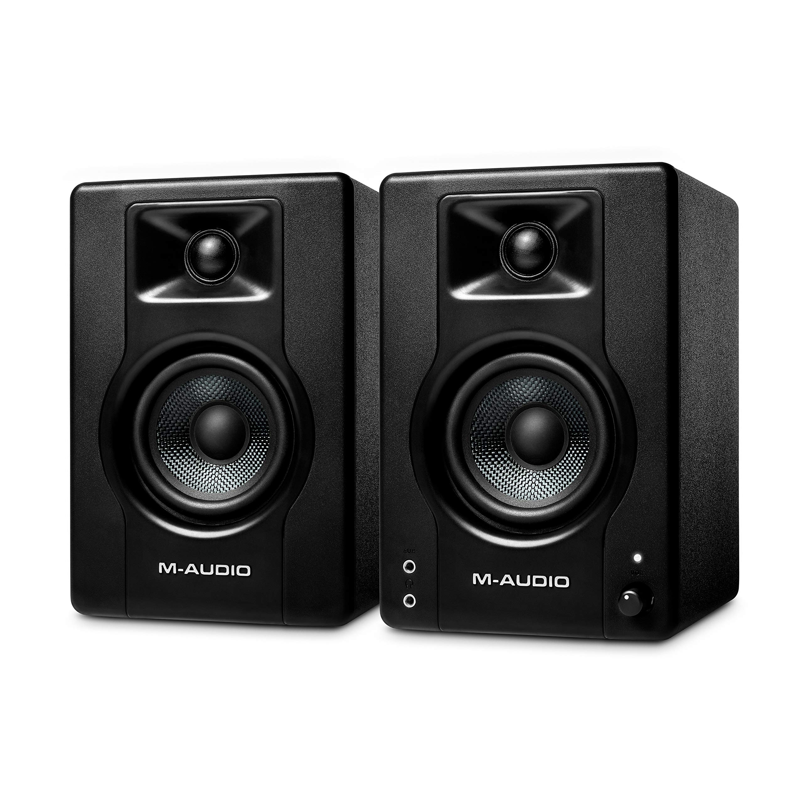 M-Audio BX3 - 120-Watt Powered Desktop Computer Speakers / Studio Monitors for Gaming, Music Production, Live Streaming and Podcasting (Pair)
