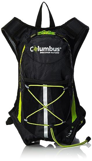 Columbus Lake 4 Mochila de hidratación, Unisex Adulto, Negro/Verde Fluorescente, Talla Única: Amazon.es: Deportes y aire libre