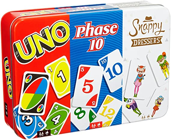 Amazon.com: Juego de cartas Uno Collector Tin: Toys & Games