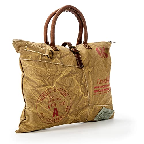 8fd1130014 Image Unavailable. Image not available for. Color  Vintage Distress Washed  Waxed Canvas Bag ...