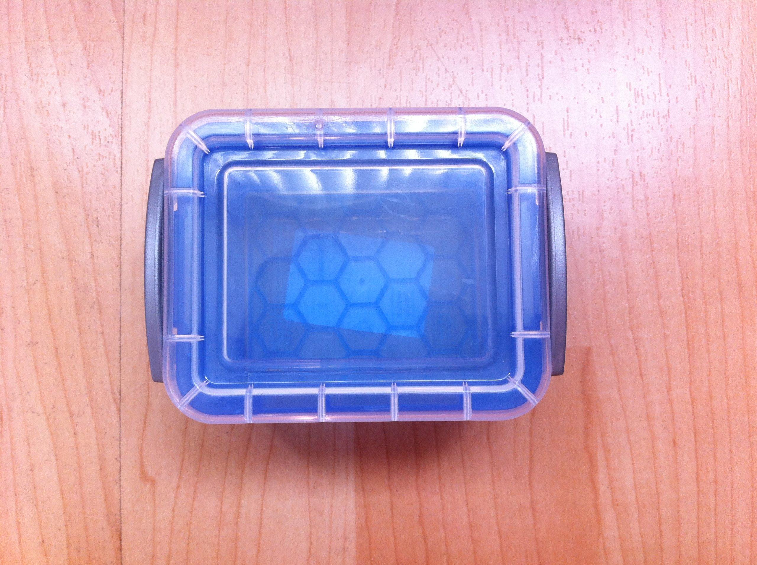 Really Useful Box Plastic Storage Box, 0.14 Liter, 3 1/4'' x 2 1/2'' x 2'', Blue