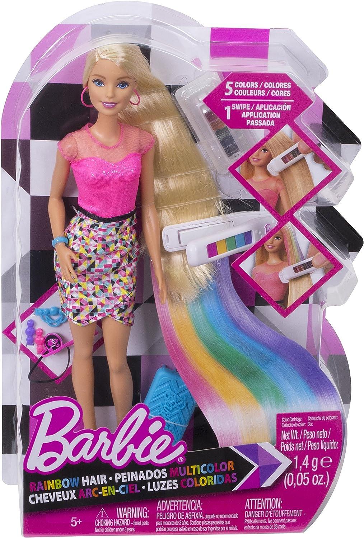 Barbie Rainbow Hair - Muñecas (Multicolor, Femenino, Chica, 5 año ...