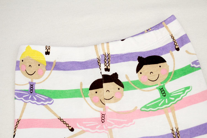 12 Years Elowel Ballerina Matching Girl /& Doll 2 Piece Pajamas 100/% Cotton