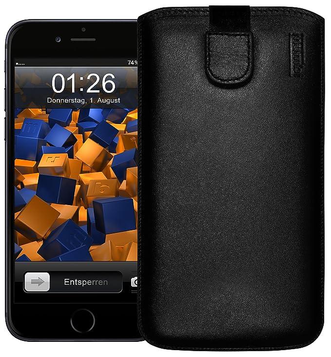 mumbi ECHT Ledertasche für iPhone 6 Plus 6s Plus Tasche Leder Etui (Lasche mit Rückzugfunktion Ausziehhilfe)