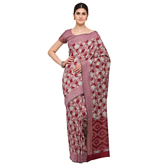 91ef3d78a7 Bhelpuri Chanderi Cotton Woven Saree (AY-SR-HC3-40054_Light Pink):  Amazon.in: Clothing & Accessories