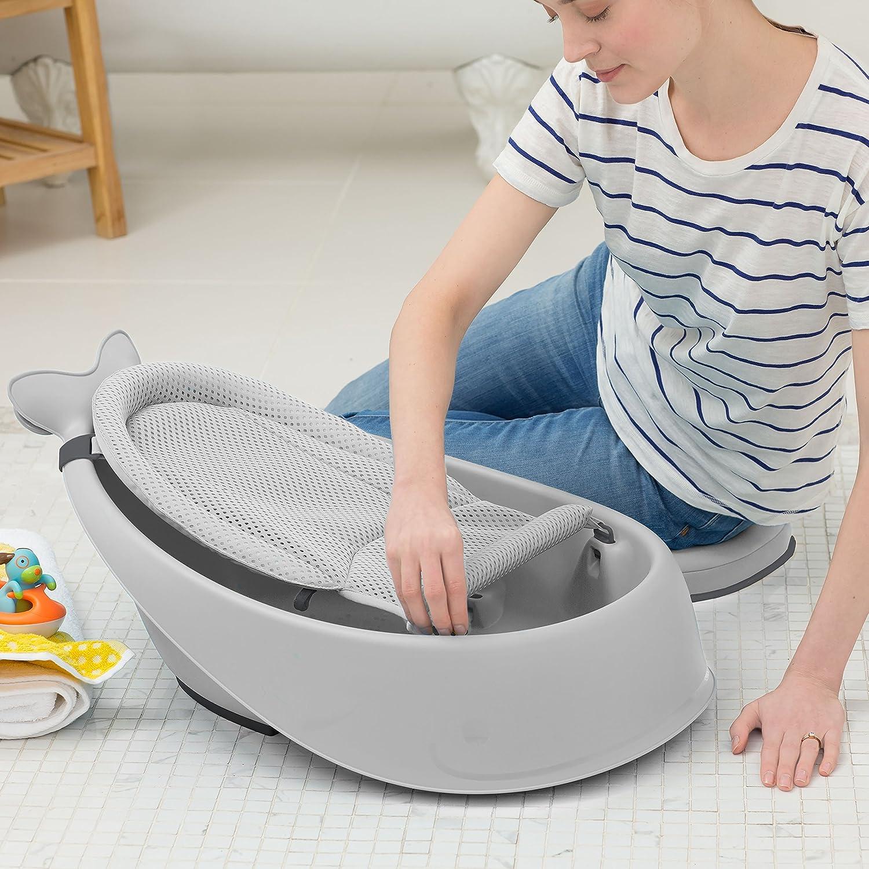Skip Hop Wal Moby Badewanne Bad für Babys 3 Stufen blau Bad für Babys 235465 Anti-Rutsch