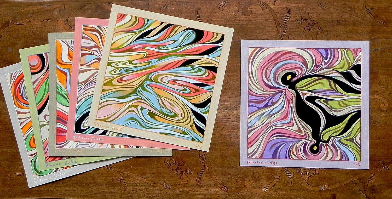 Quadro astratto olio e grafite su carta 24 x 24 cm.: amazon.it