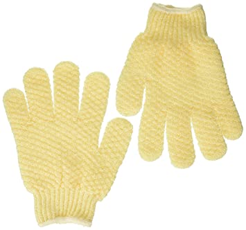 57c35816dddbd Amazon.com : Earth Therapeutics Exfoliating Hydro Gloves, Natural : Bath  Mitts And Cloths : Beauty