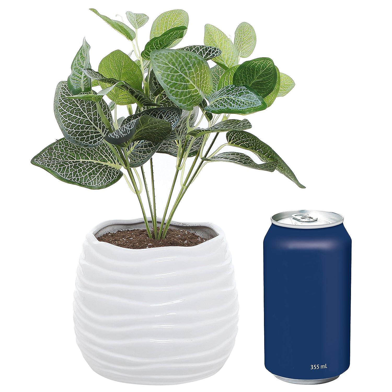 Amazon 55 Inch White Ceramic Wavy Design Plant Flower Planter