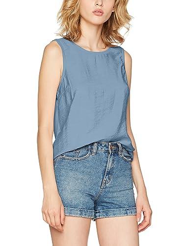 Vero Moda Vmsatino S/L Midi Top Dnm a, Camiseta sin Mangas para Mujer