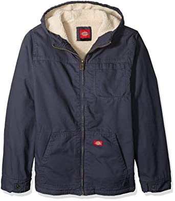 ecdac60bce57 Amazon.com  Dickies Men s Sanded Duck Sherpa Lined Hooded Jacket Big-Tall   Clothing