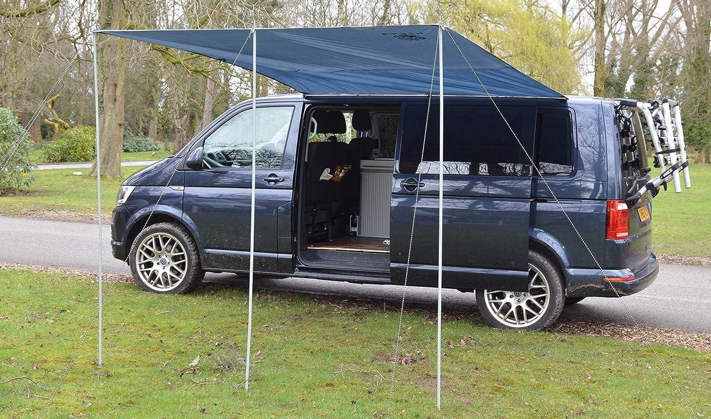 Wild Earth - Toldo para caravana VW de 300 cm x 240 cm, de color gris medio: Amazon.es: Coche y moto