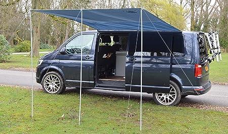 Wild Earth - Toldo para caravana VW de 300 cm x 240 cm, de color gris medio
