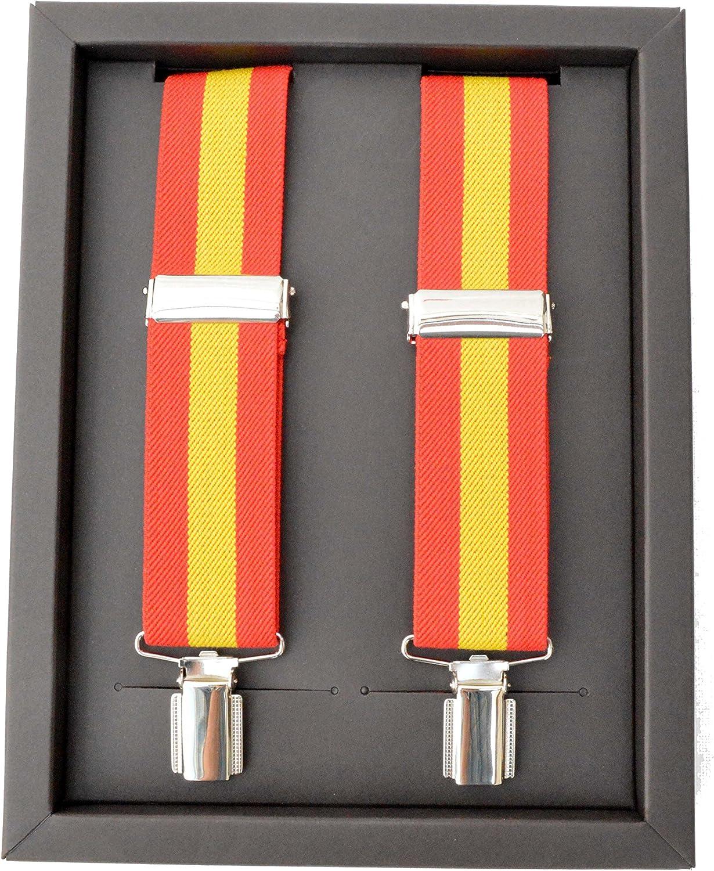 Cencibel Smart Casual Tirantes Caballero Bandera de España: Amazon ...