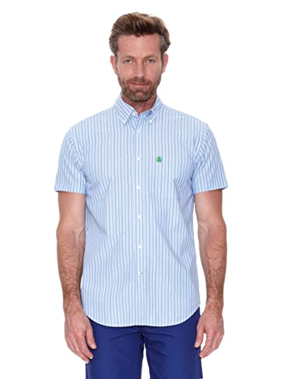 Cortefiel Camisa MC Awati Raya Azul Medio M: Amazon.es: Ropa y ...