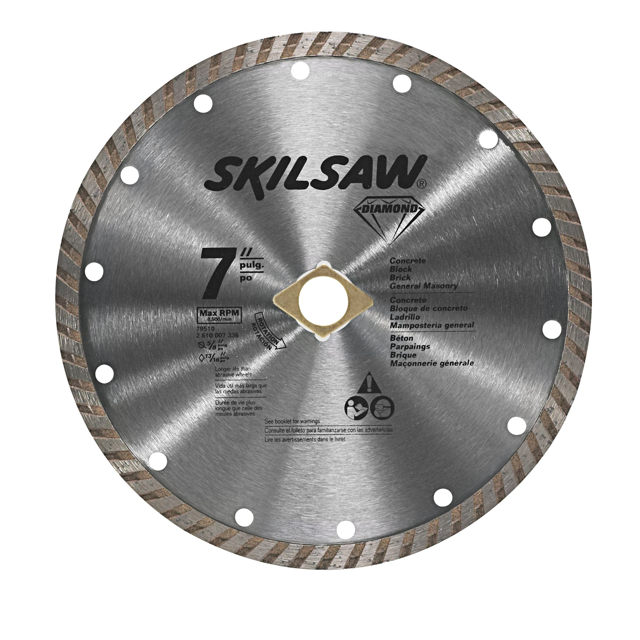 Best rated in circular saw blades helpful customer reviews skil 79510c 7 inch turbo rim diamond blade product image greentooth Choice Image