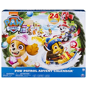 Amazon Com Paw Patrol Advent Calendar With 24 Collectible Plastic