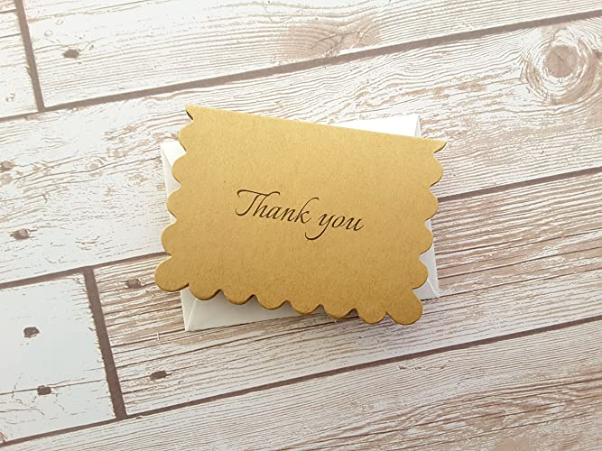 amazon com 2 5 x 3 5 elegant simple thank you cards with envelope