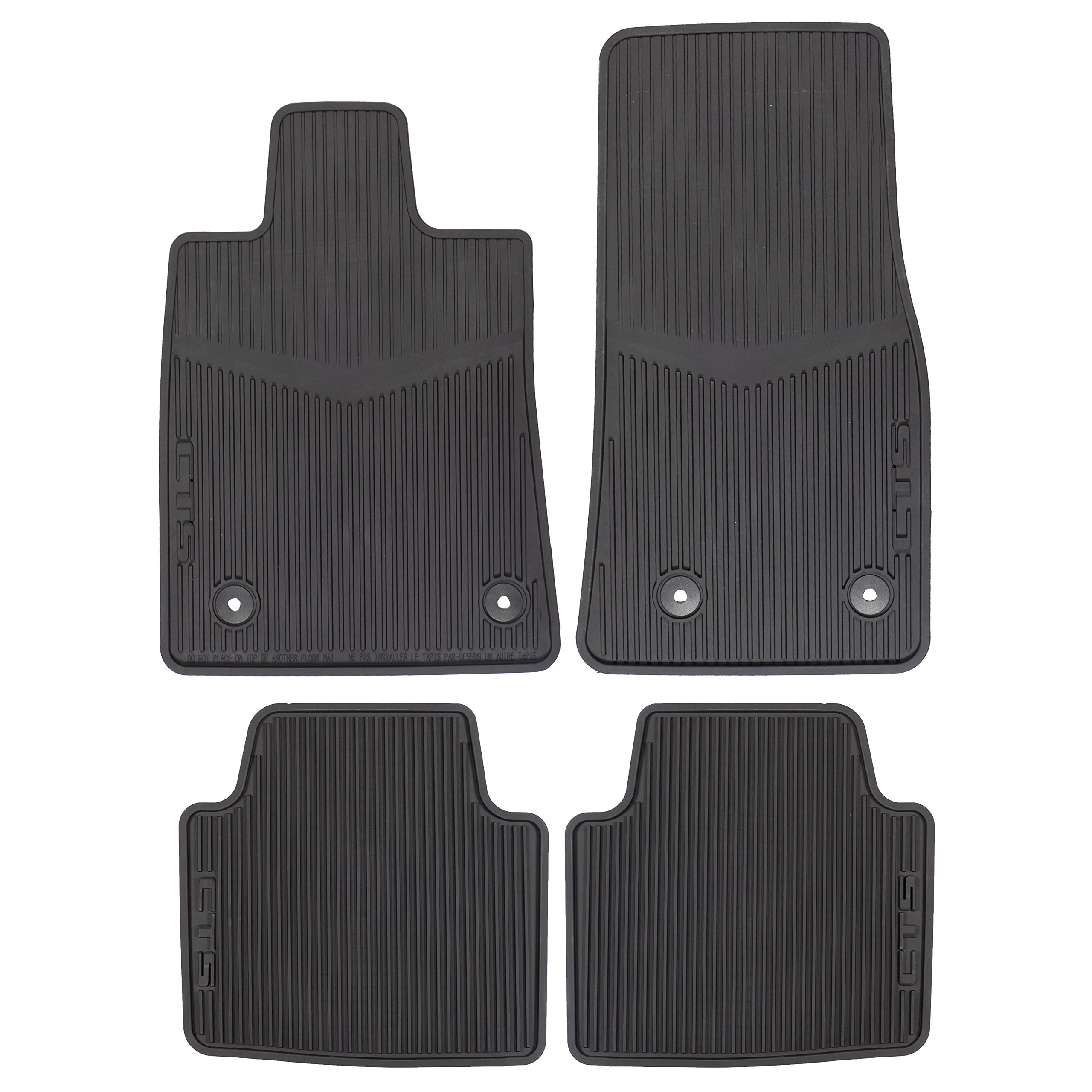 OEM NEW Front & Rear All Weather Rubber Floor Mats w/Logo 14-18 CTS 22860182