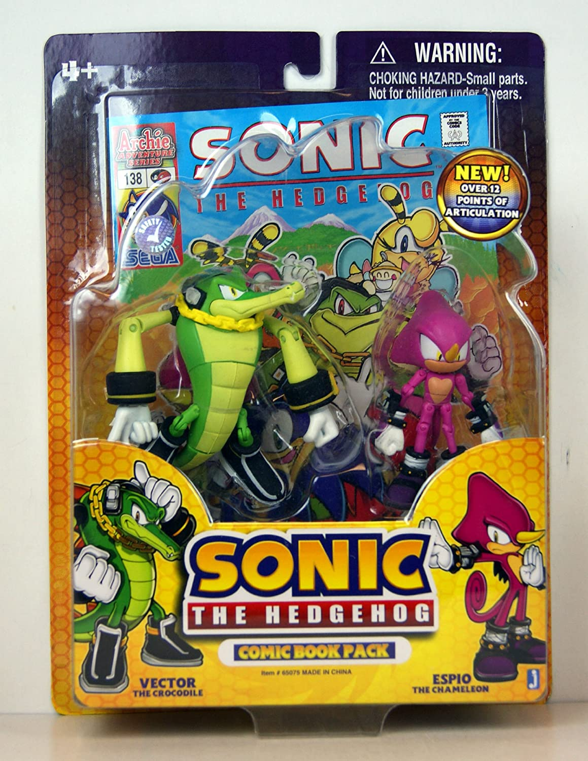 Amazon Com Sonic The Hedgehog Exclusive 3 5 Inch Action Figure With Comic 2 Pack Translucent Sonic And Knuckles Toys Games