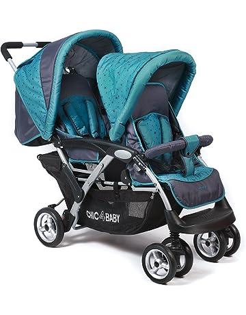 CHIC 4 Baby - Carrito gemelar con bolso de transporte y capota de protección para lluvia