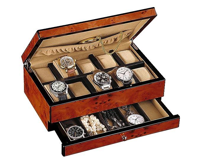 Precioso Relojes Caja de Ulme Diseño de madera en las siguientes medidas 30 x 18,5 x 10,5 cm - c331886: Amazon.es: Relojes
