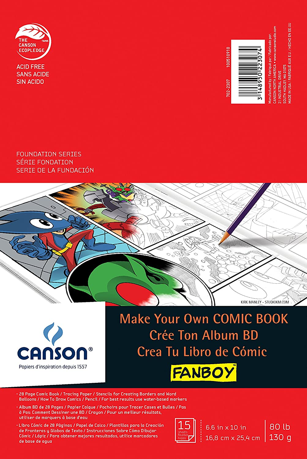 Canson Fanboy Make Your Own Comic Book