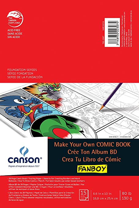 Amazon.com: Canson Foundation Series Make Your Own Comic Book Kit ...