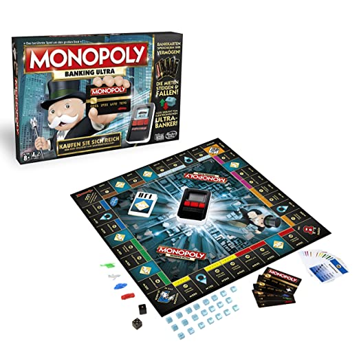 Hasbro Gaming B6677100 - Monopoly Banking Ultra Familienspiel