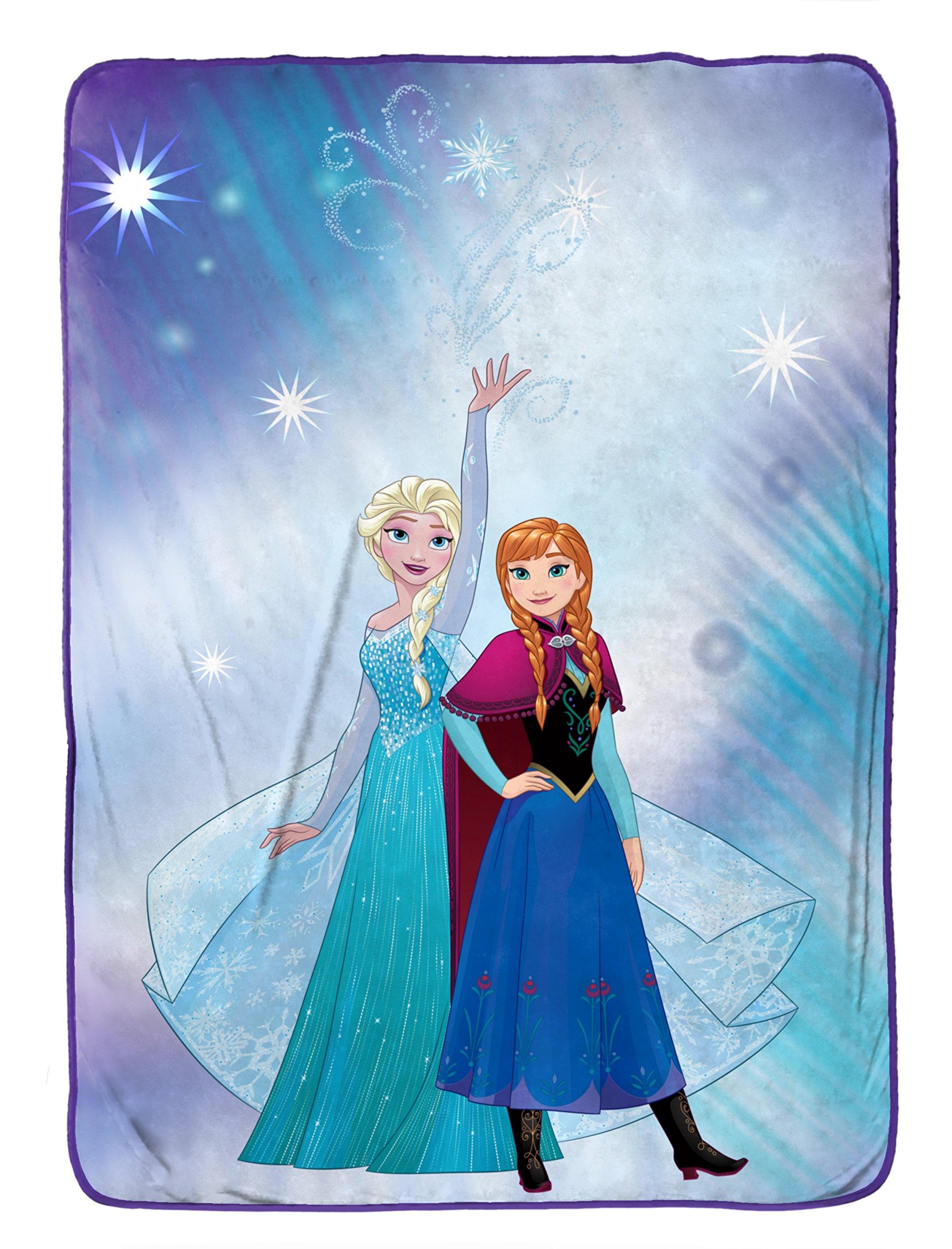Disney Frozen 'Magical Winter' Flannel/Silk Touch 62'' x 90'' Twin Blanket