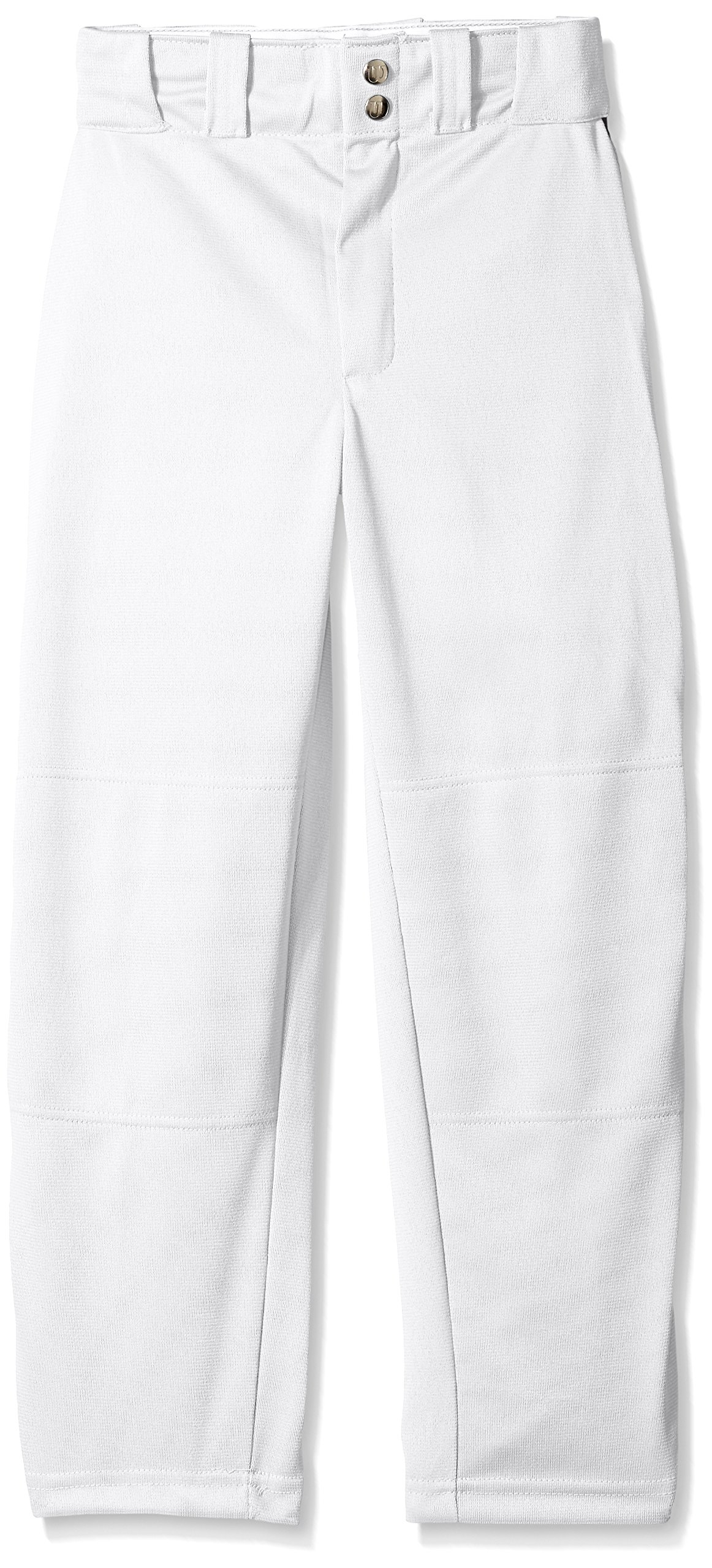Wilson Youth Classic Relaxed Fit Piped Baseball Pant, White/Navy, Large by Wilson