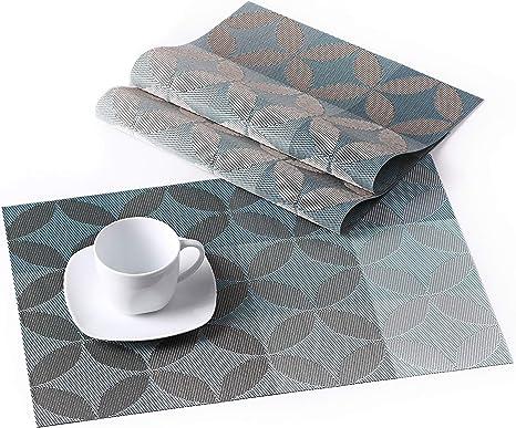 Tischset Unterlage 45 x 30 cm Platzset olivgrün Kunststoff
