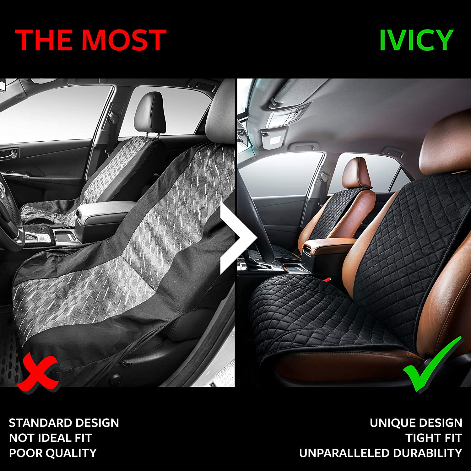 Girls Men Car Seat Protector Truck Car Seat Cushion Premium Covers for Women Fits Most Cars or Van IVICY Car Seat Cover Protector Cushion SUV 1-pc Boys