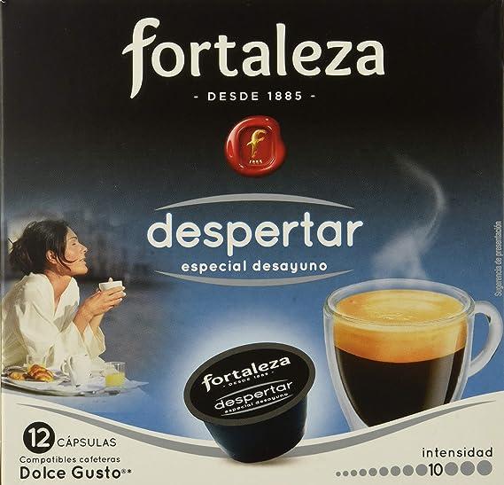 Café FORTALEZA - Cápsulas de Café Despertar Compatibles con Dolce Gusto - Pack 3 x 12 - Total 36 cápsulas